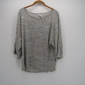 Charming Charlie Long Sleeve Gray Tops Size Medium